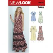 6448 New Look Pattern: Misses' Easy V-Neck Dresses